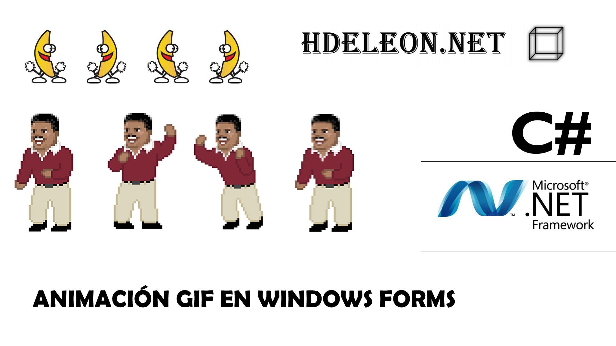¿Cómo cargar una imagen animada gif en windows forms?, Stop y Play, C# .Net
