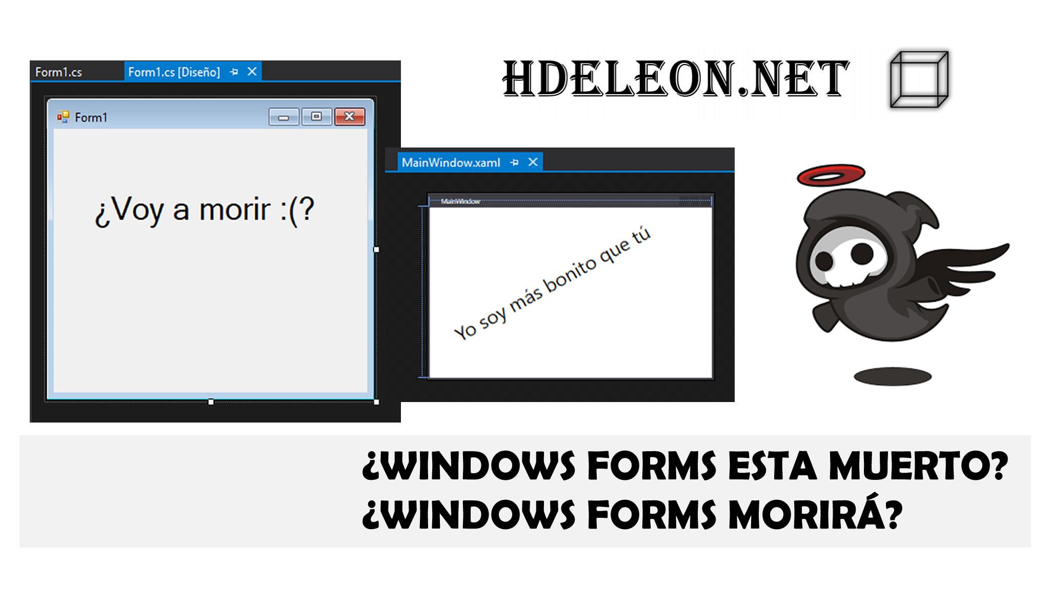 ¿Windows Forms está muerto?¿Windows Forms morirá?