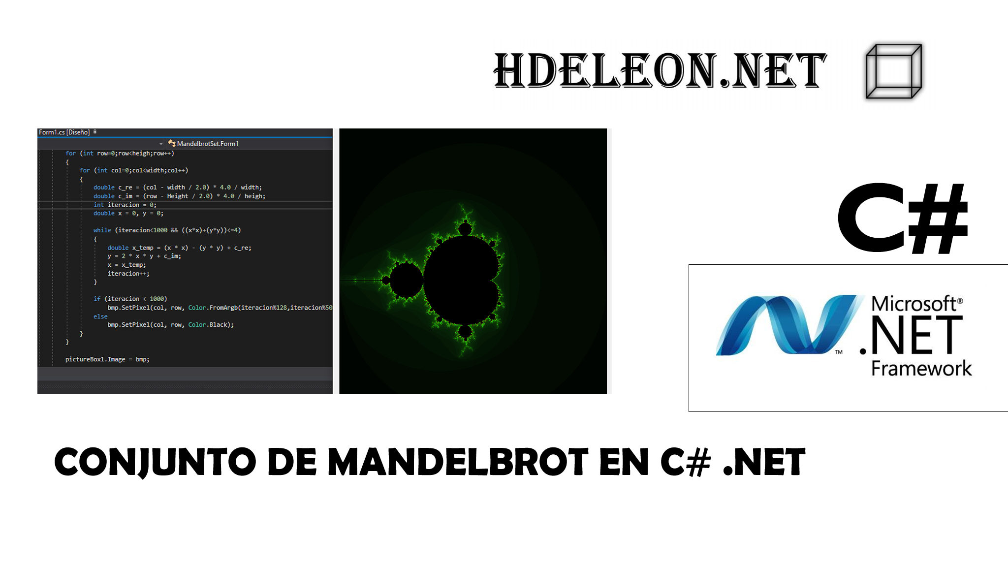 Conjunto de Mandelbrot en C# .Net, Fractales, Mandelbrot Set