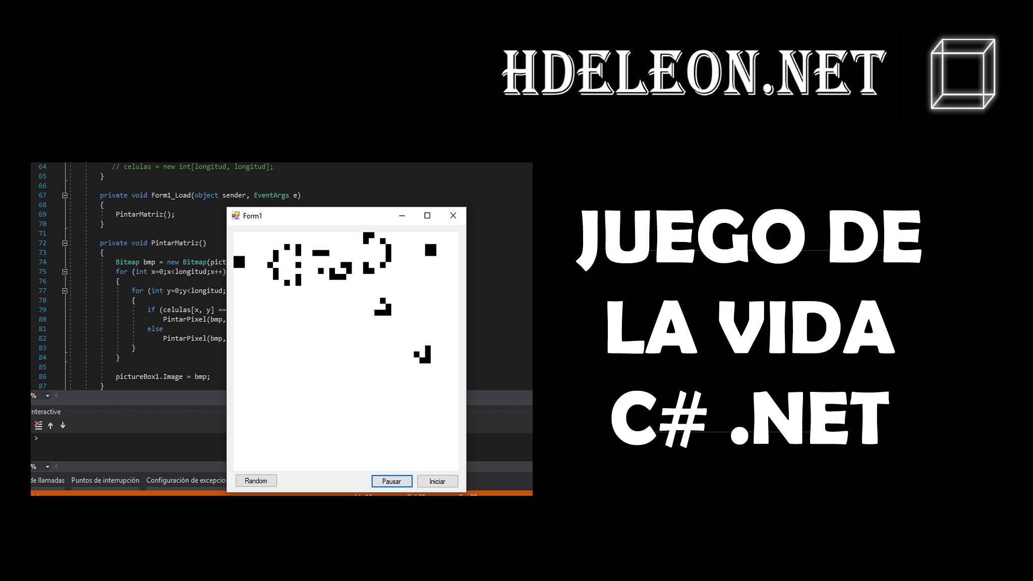 Juego de la vida en C# .Net, autómata celular, Universo holograma