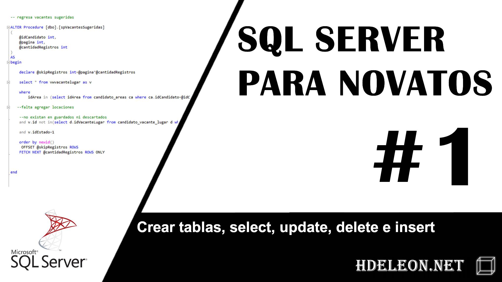 Sql Server para novatos