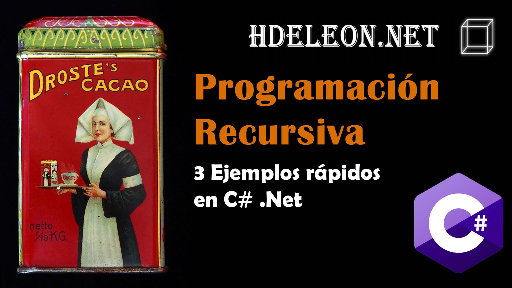 Programación recursiva fácil explicada con 3 ejemplos, C# .Net, recorrido arreglos, suma, dibujar árbol