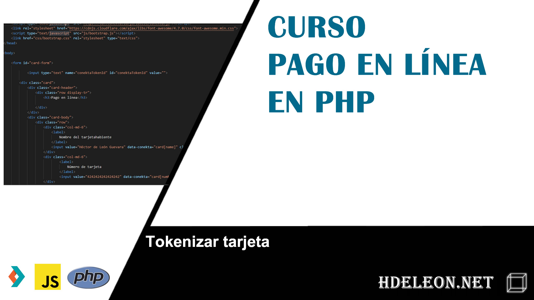 Curso para realizar pagos en línea con php, conekta, html5, javascript