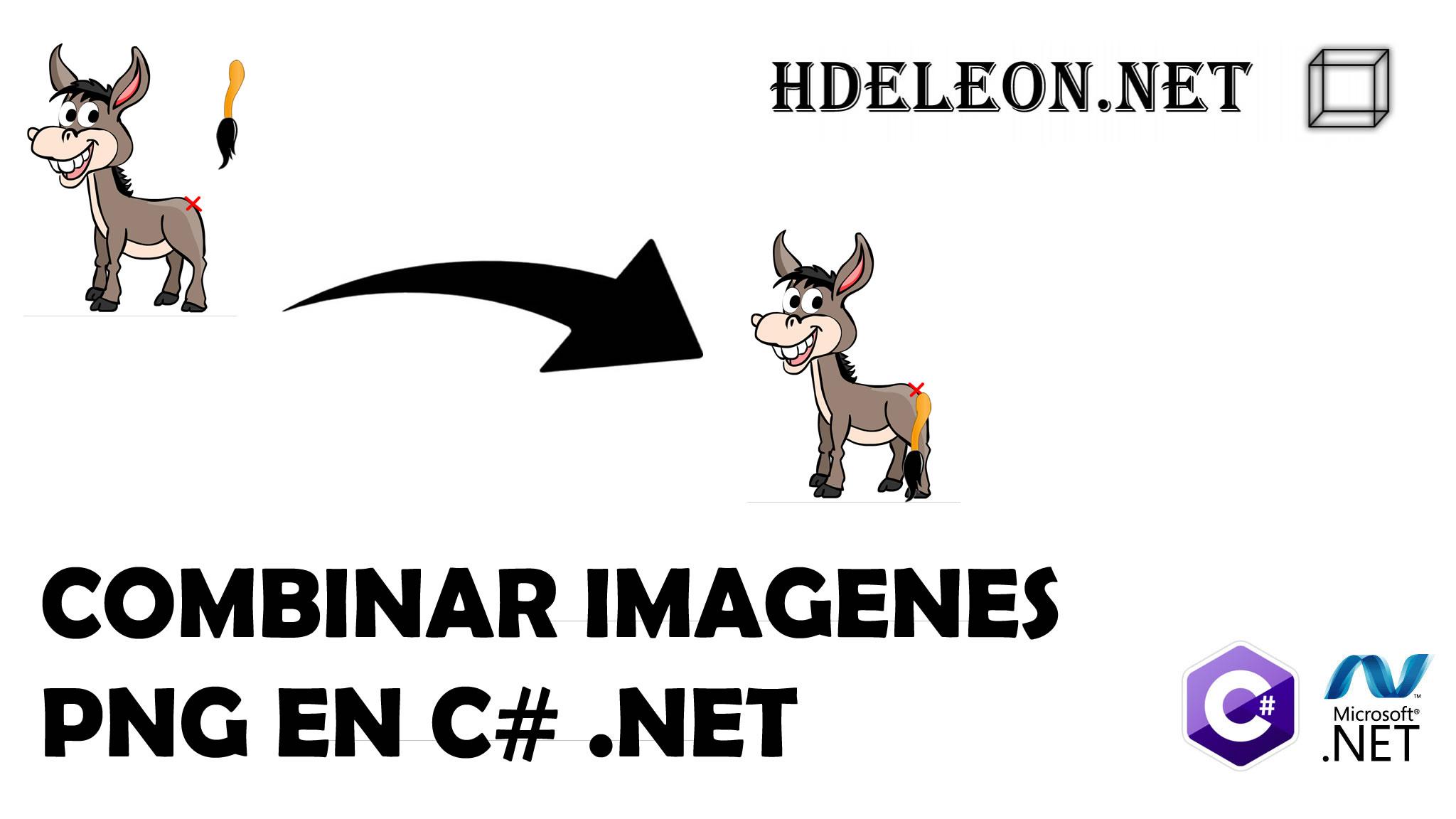 ¿Cómo combinar imágenes PNG en C# .Net?, Magick.Net