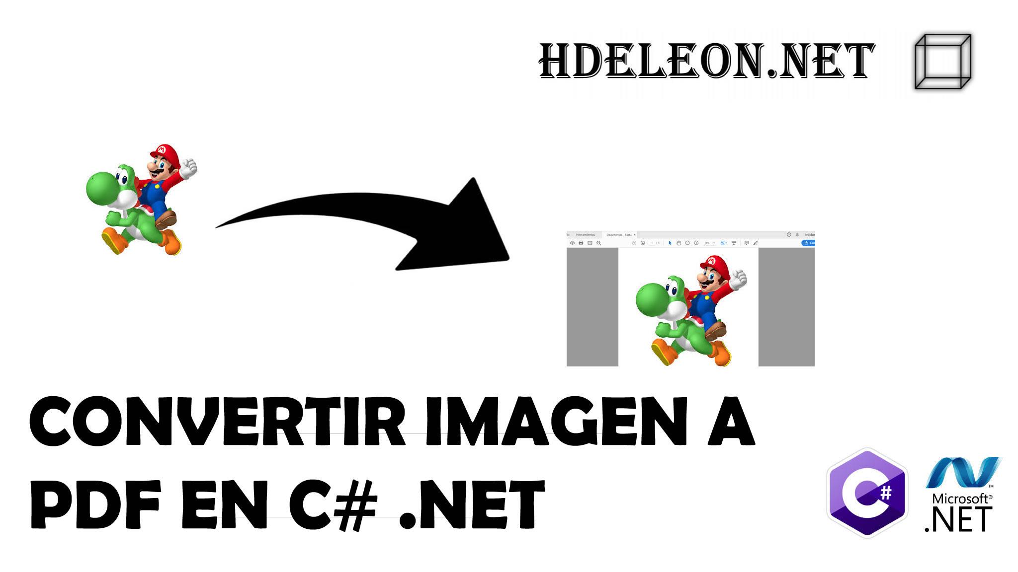 ¿Cómo convertir una imagen png o jpg a un archivo pdf?, C# .Net, Magick.net