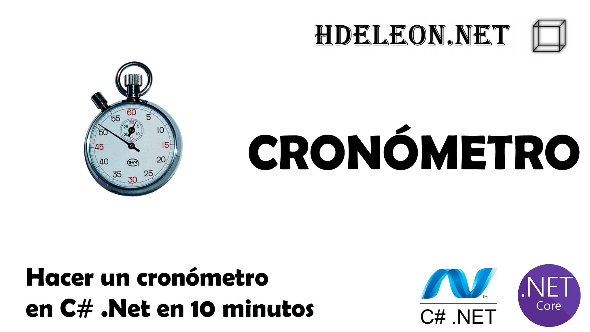 Hacer un cronómetro en C# .Net en 10 minutos, Windows forms, Stopwatch