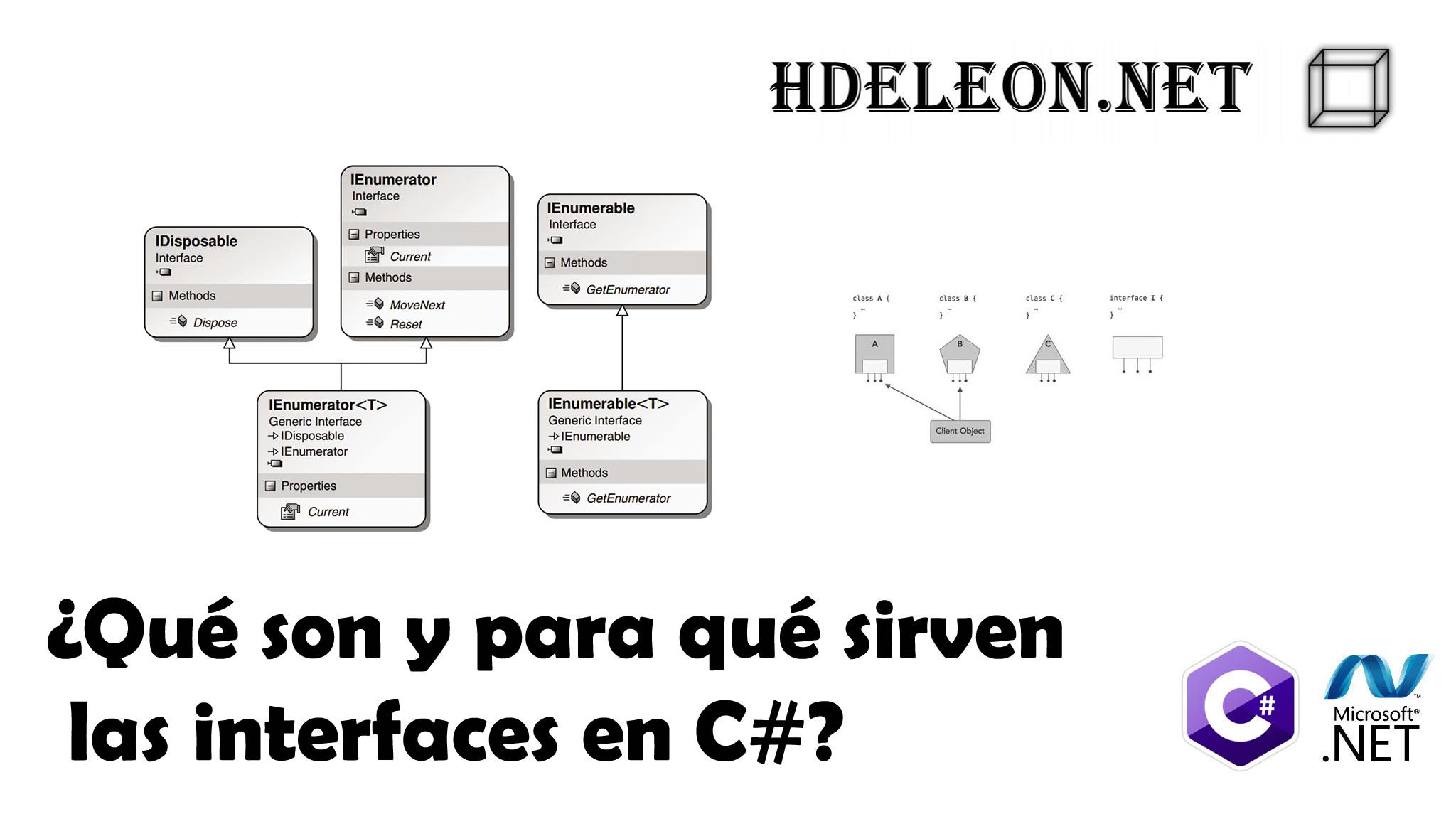 ¿Qué son y para qué sirven las interfaces en C#?, Programación Orientada a Objetos