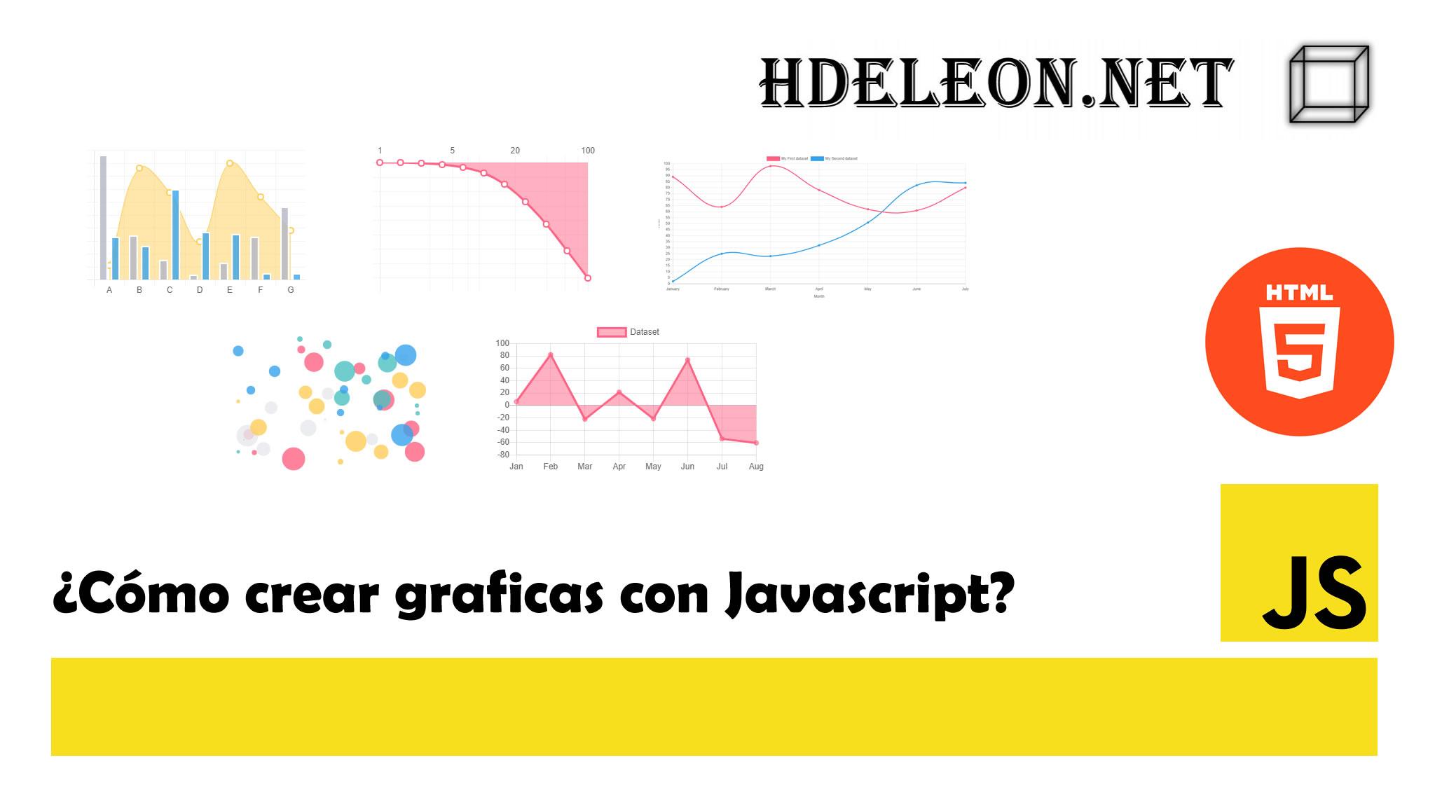 ¿Cómo crear graficas con Javascript?, Chartjs, HTML5