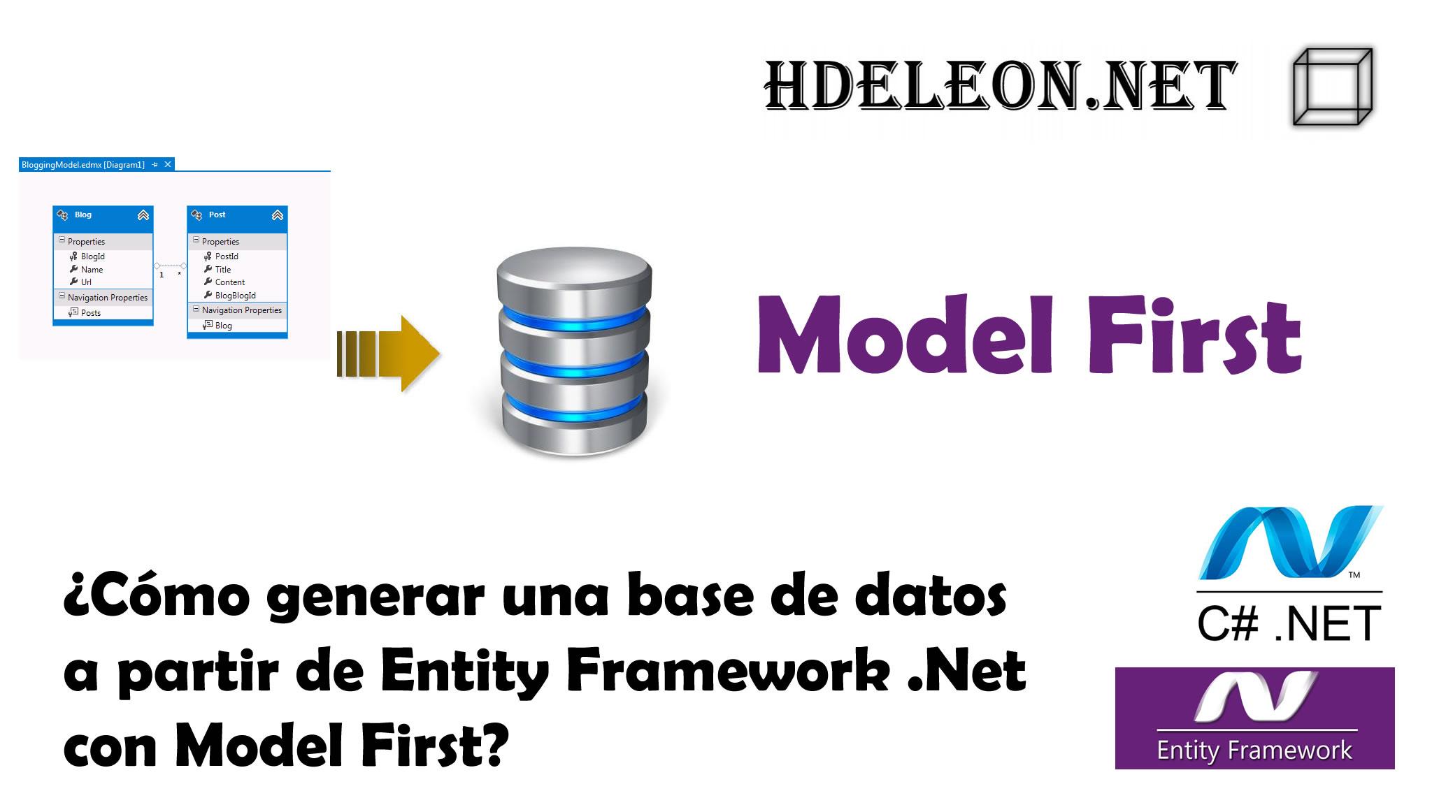¿Cómo generar una base de datos a partir de Entity Framework .Net con Model First? C# .Net