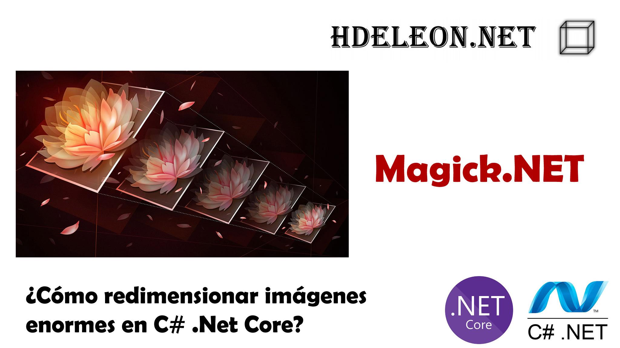 ¿Cómo redimensionar imágenes enormes en C# .Net Core?, Magick.Net