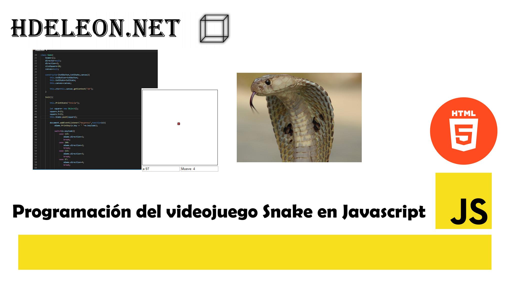 Programación del videojuego Snake en Javascript