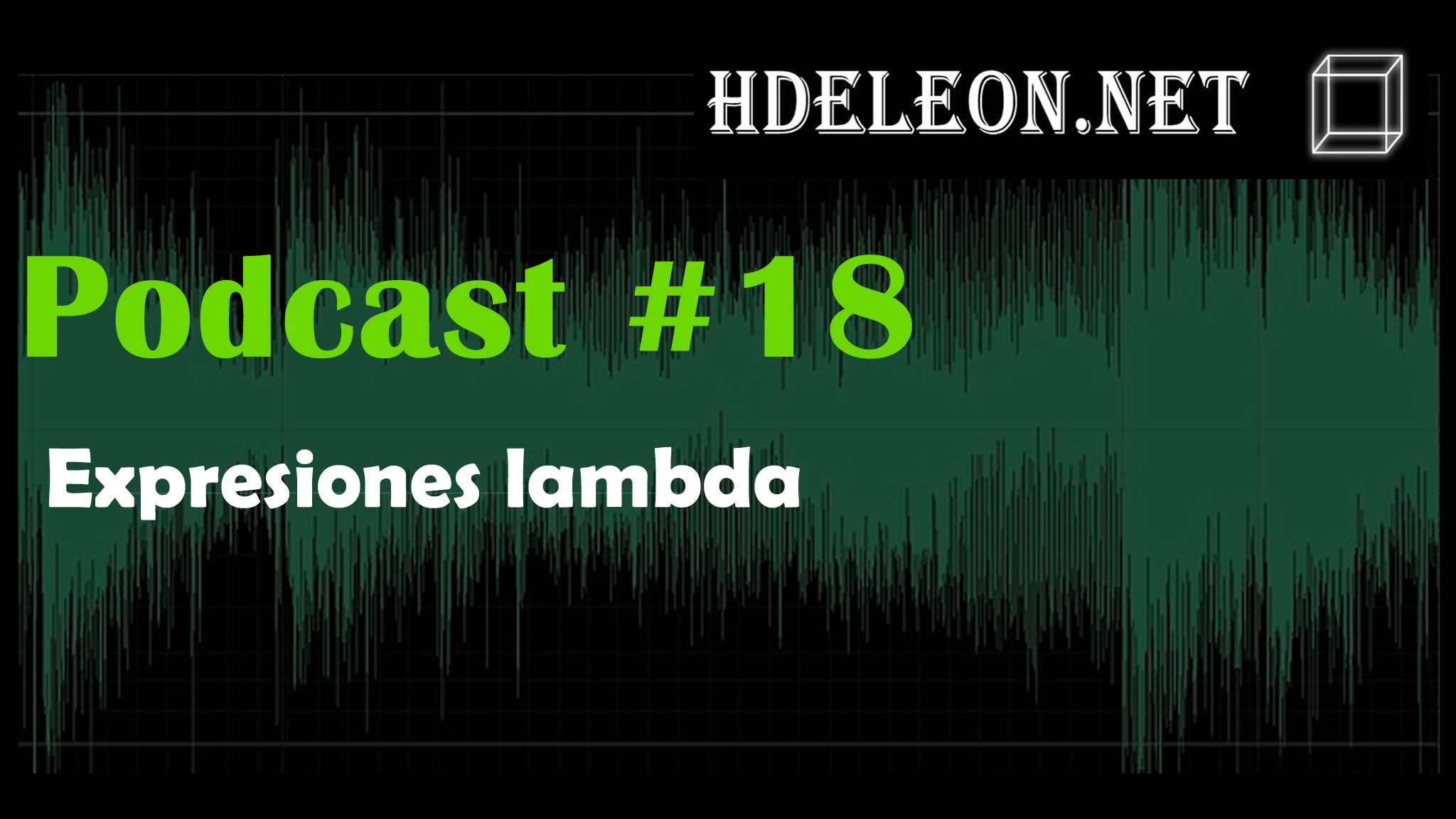 Podcast #18 – Expresiones lambda