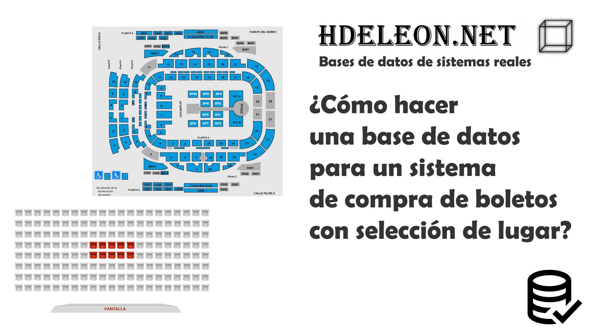 ¿Cómo hacer una base de datos para un sistema de compra de boletos con selección de lugar?