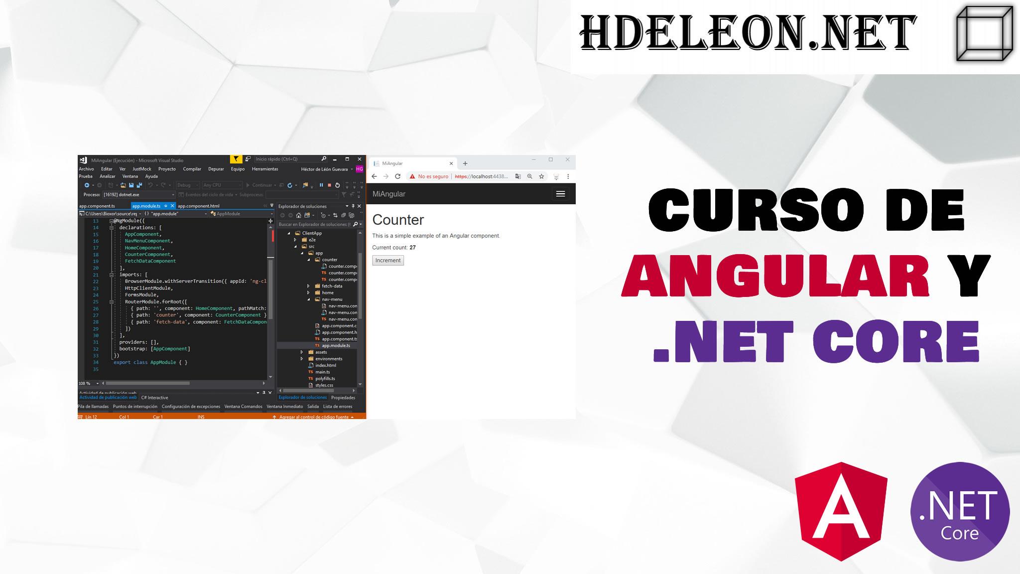 Curso gratis de Angular y C# .Net Core