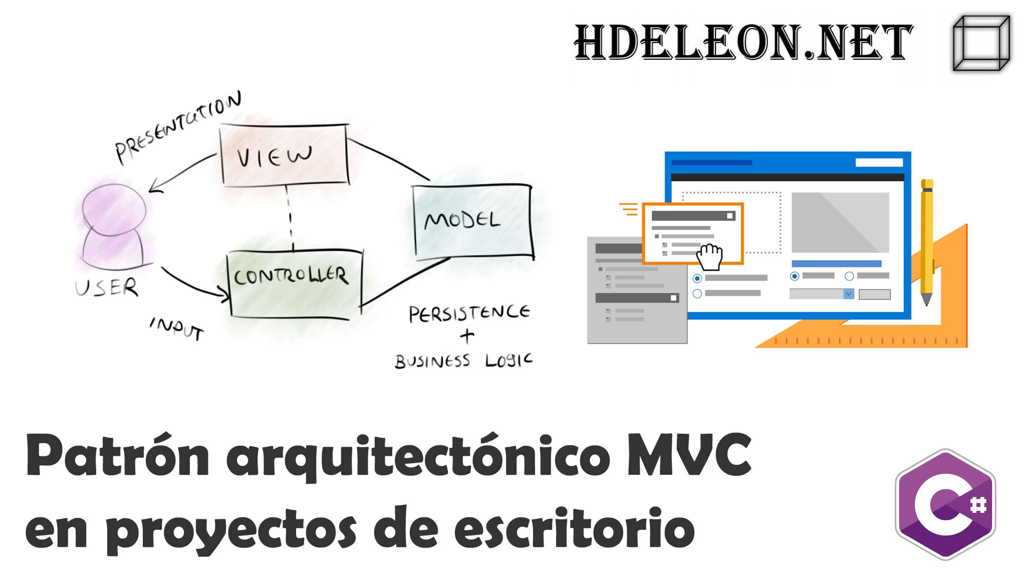 Patrón arquitectónico MVC en proyectos de escritorio, C# .Net Windows Forms