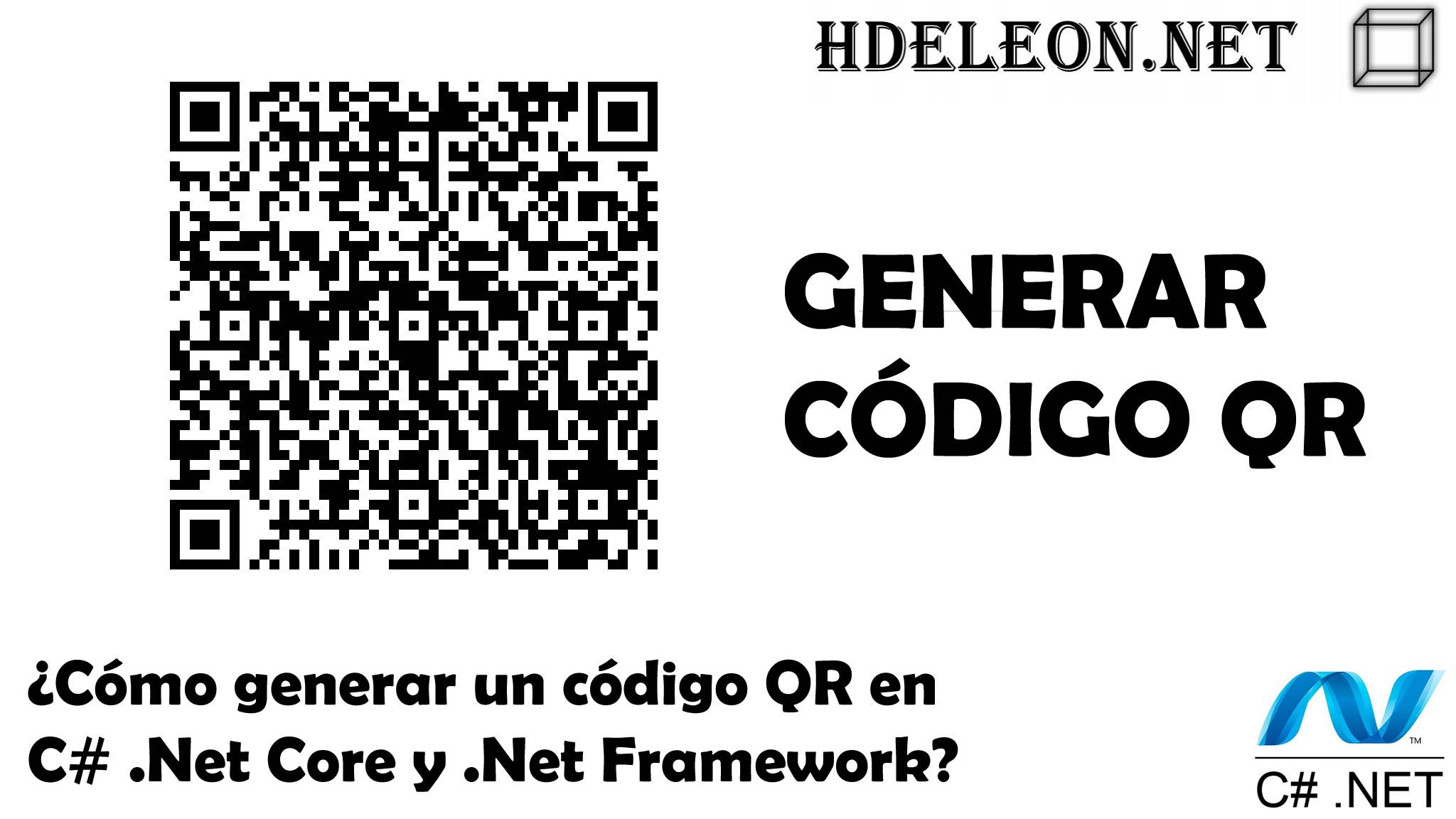 ¿Cómo generar un código QR en C# .Net Core y .Net Framework?, itextsharp