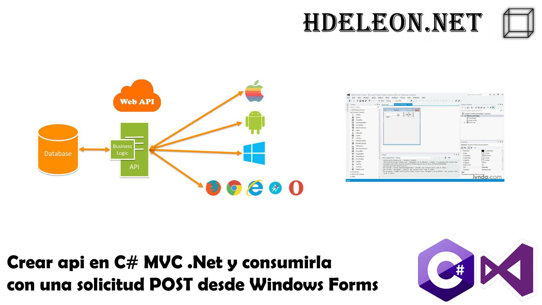 Crear API en C# MVC .Net y consumirla con una solicitud POST desde Windows Forms