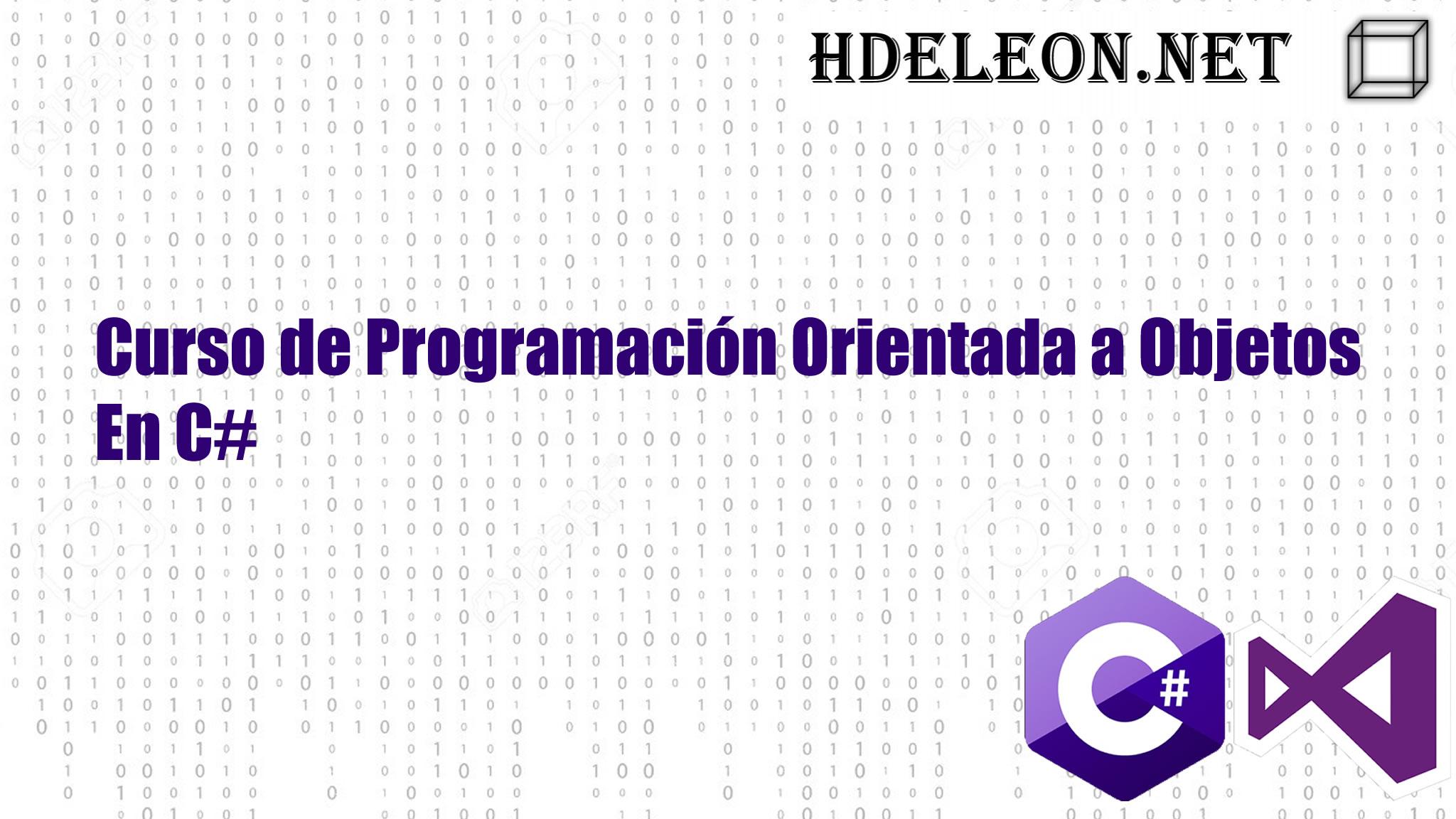 Curso de programación orientada a objetos en C# .Net