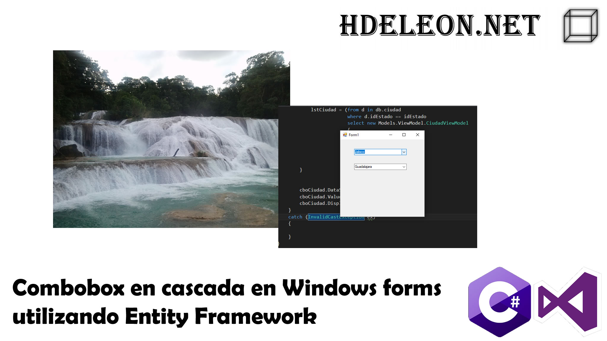 Combobox en cascada en C# Windows forms utilizando Entity Framework