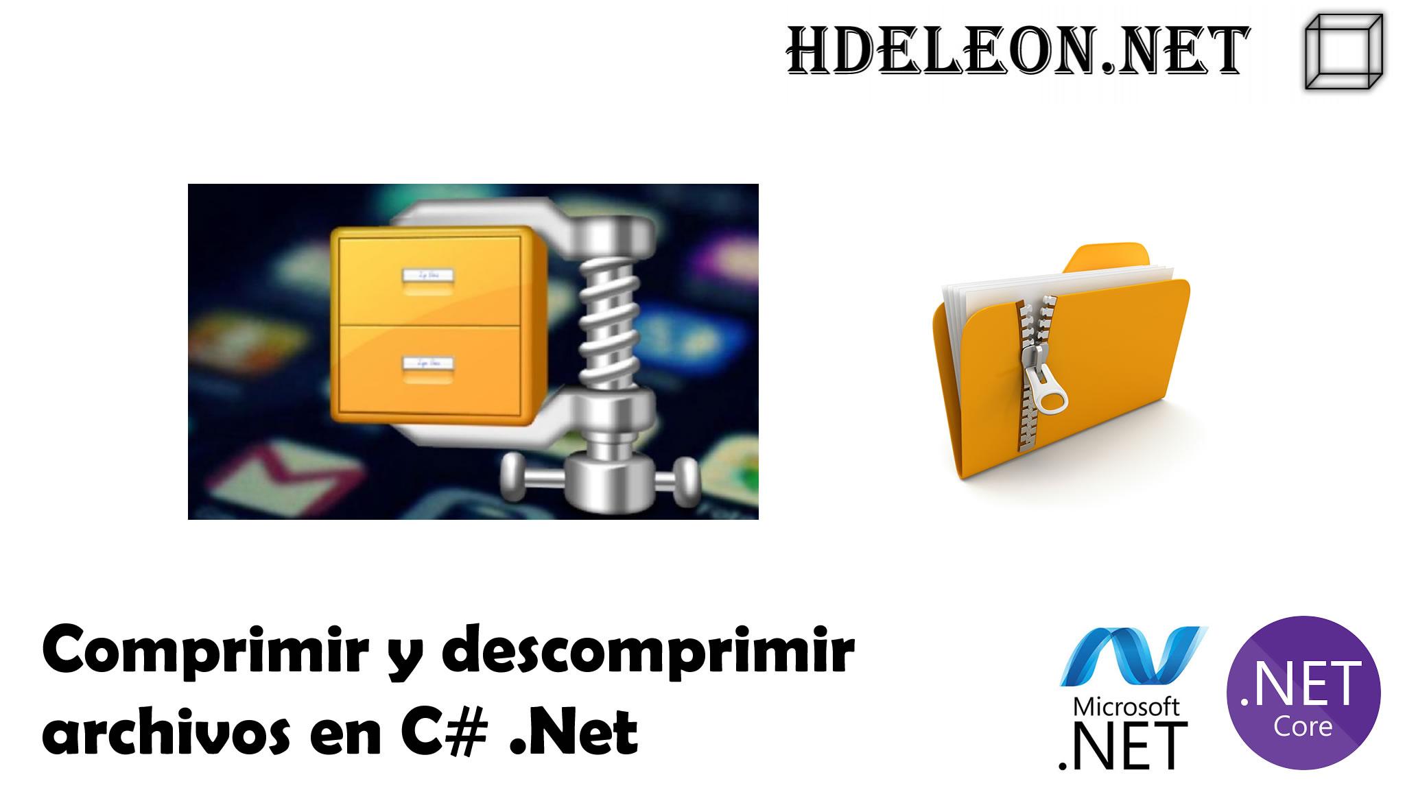 Comprimir y descomprimir archivos en C# .Net
