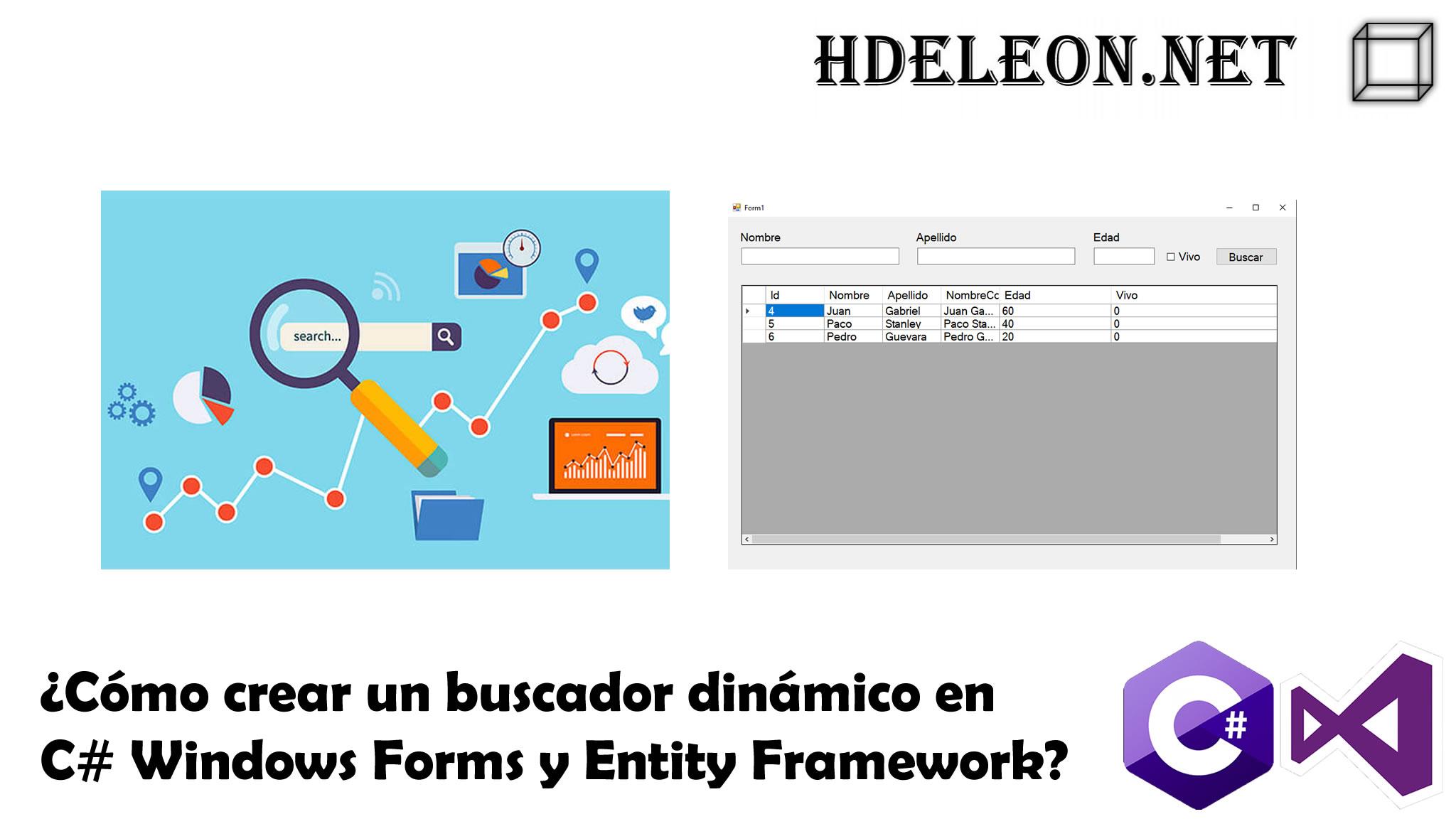 Buscador dinámico en C# .Net Windows Forms