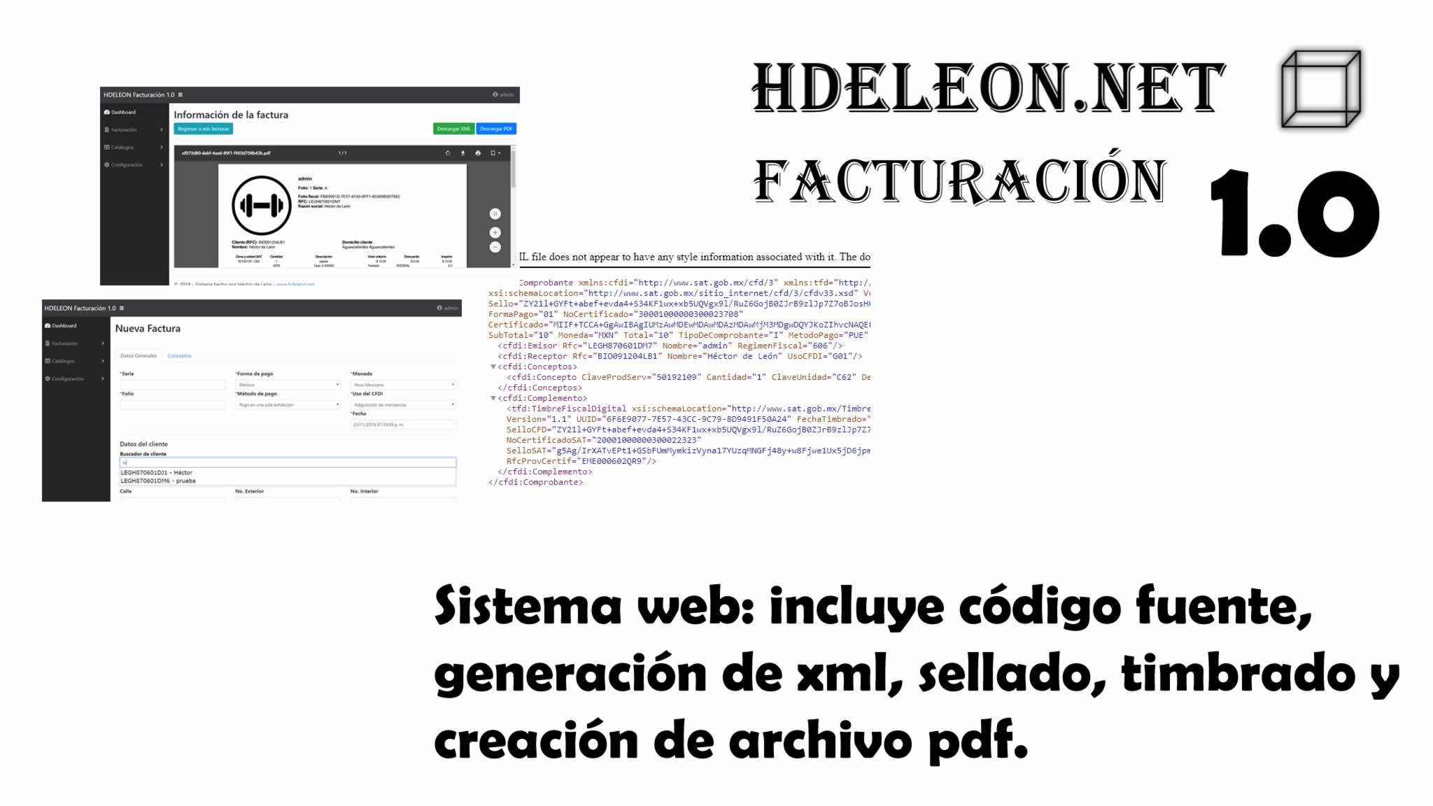 Código fuente sistema web facturación electrónica México 3.3, C# .Net y mysql