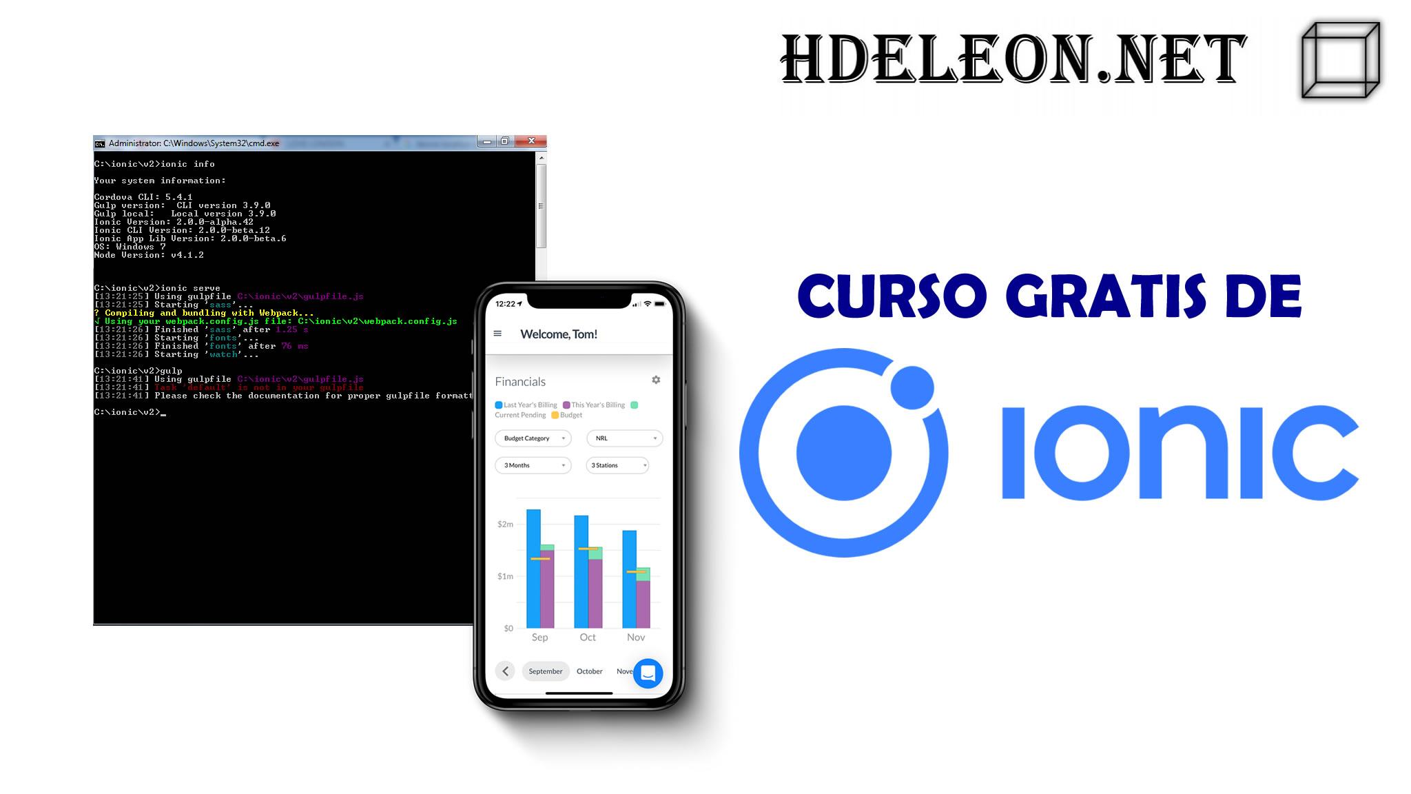 Curso gratis de desarrollo de aplicaciones con IONIC