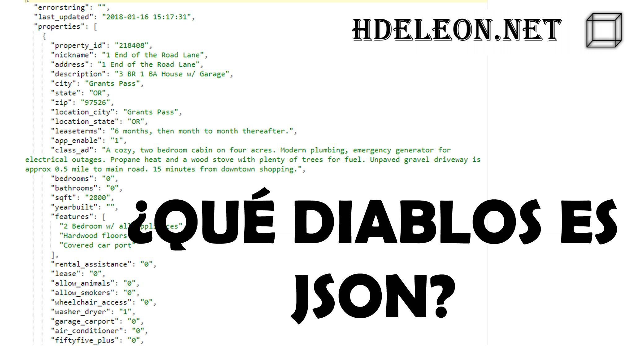 ¿Qué diablos es JSON? Ejemplo práctico en #javascript