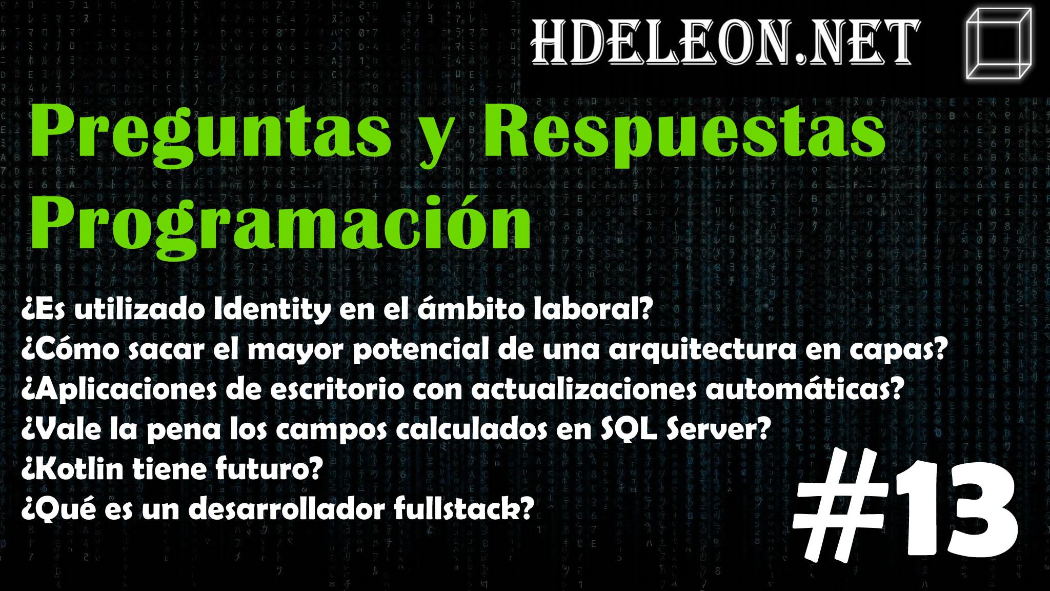 Preguntas y respuestas de programación #13 ¿Qué es un desarrollador fullstack?