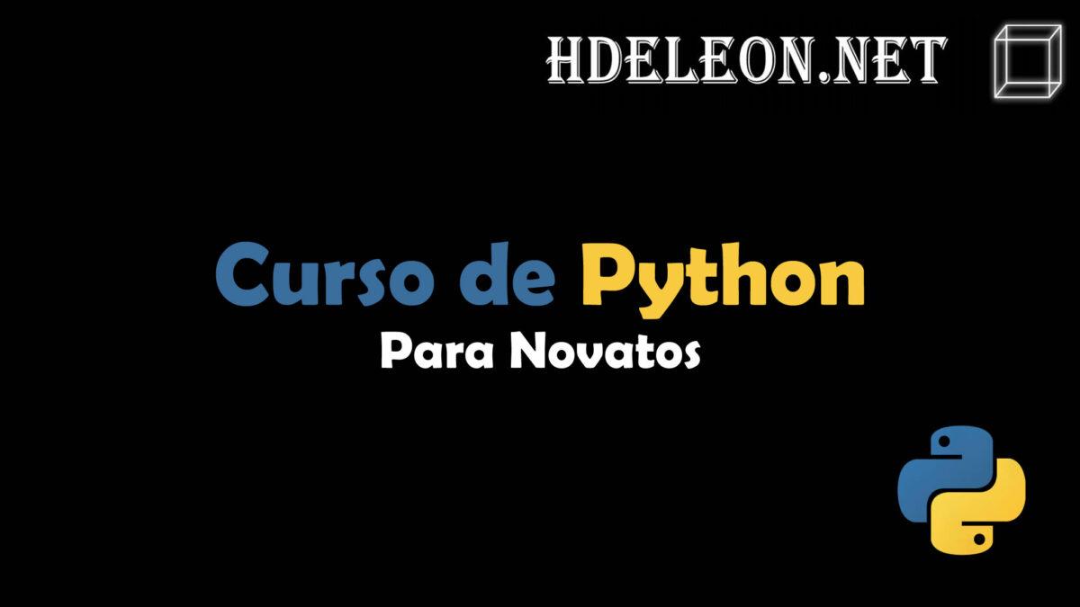 Curso de Python orientado a novatos