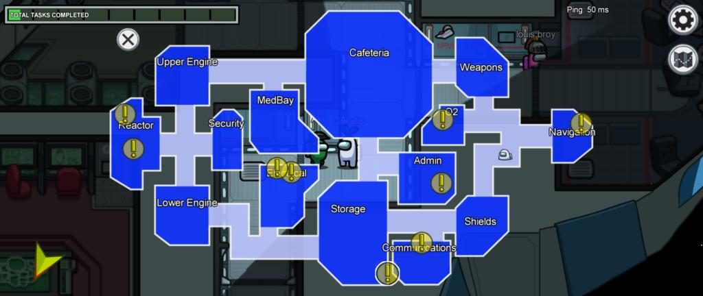 Among Us Task Map