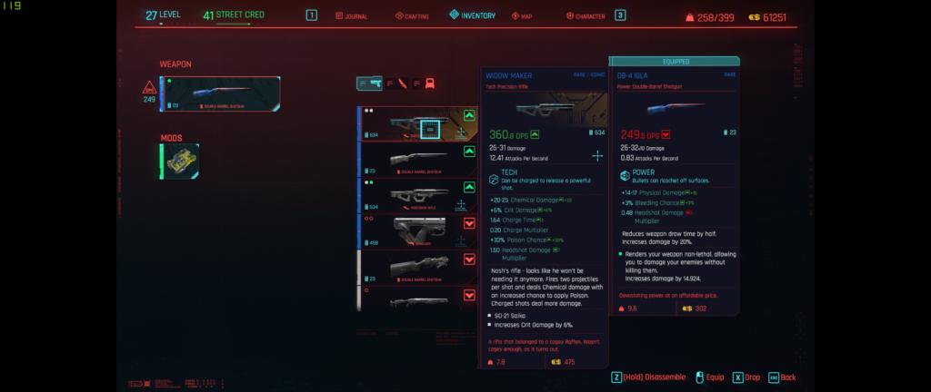 Cyberpunk Inventory 1