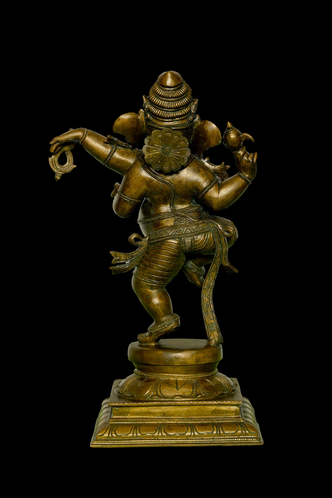 Dancing Ganesh 15 Inch- Rear View
