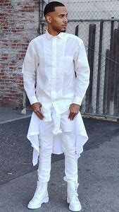 THE PEACEFULL WHITE ,Monochrome looks for mens dressing