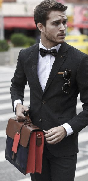 black suit for men