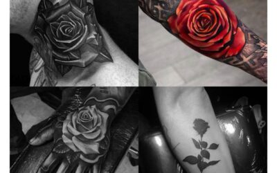 Top 30 Stylish Rose Tattoos for Men 2020