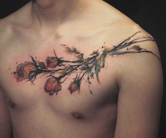 rose tattoos for men 2020