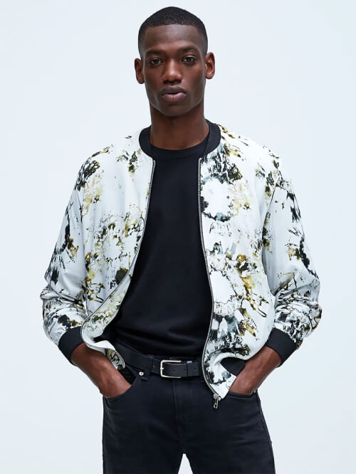 zara men bomber jacket