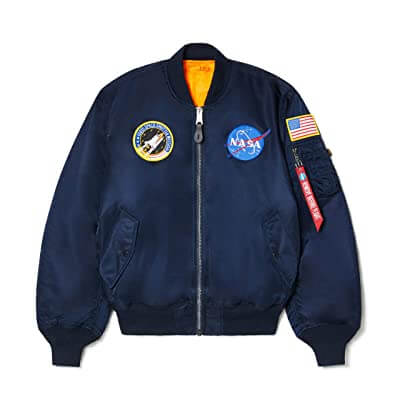 alpha bomber jacket nasa