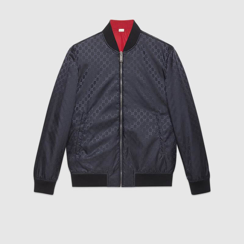 Gucci Reversible GGBest red bomber jacket