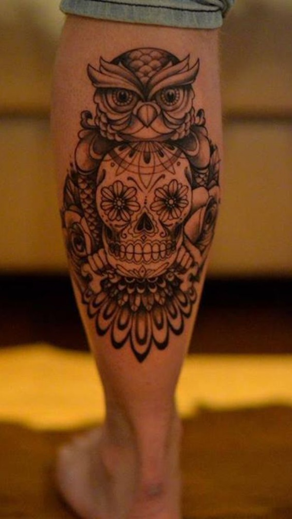small leg tattoo