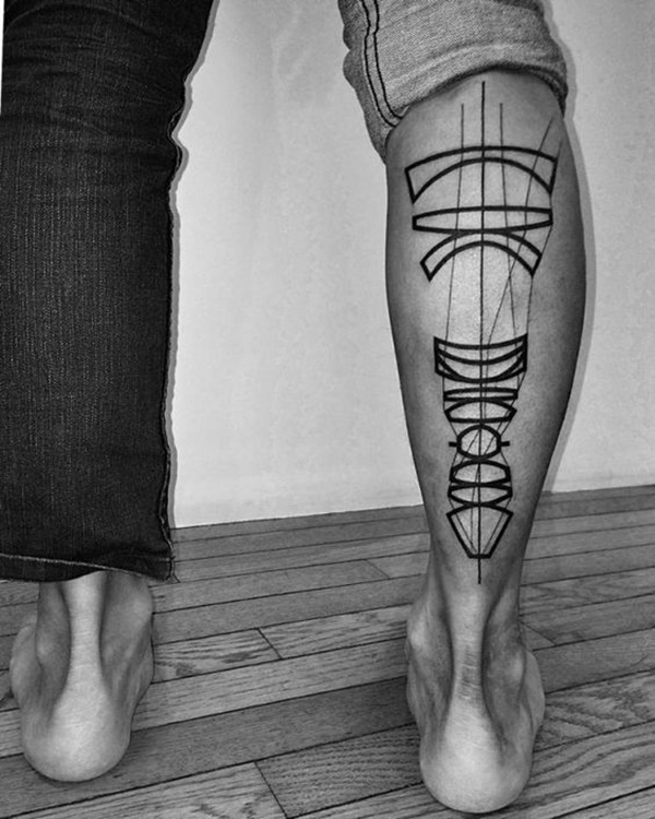biochemical leg tattoos for men