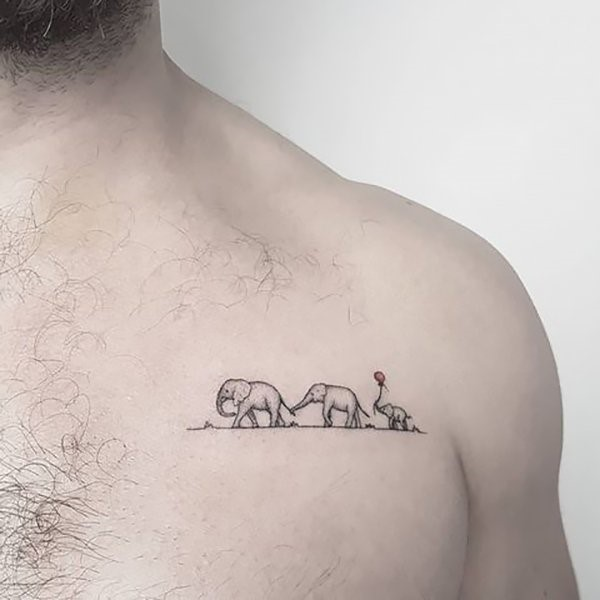 elephant family tattoo