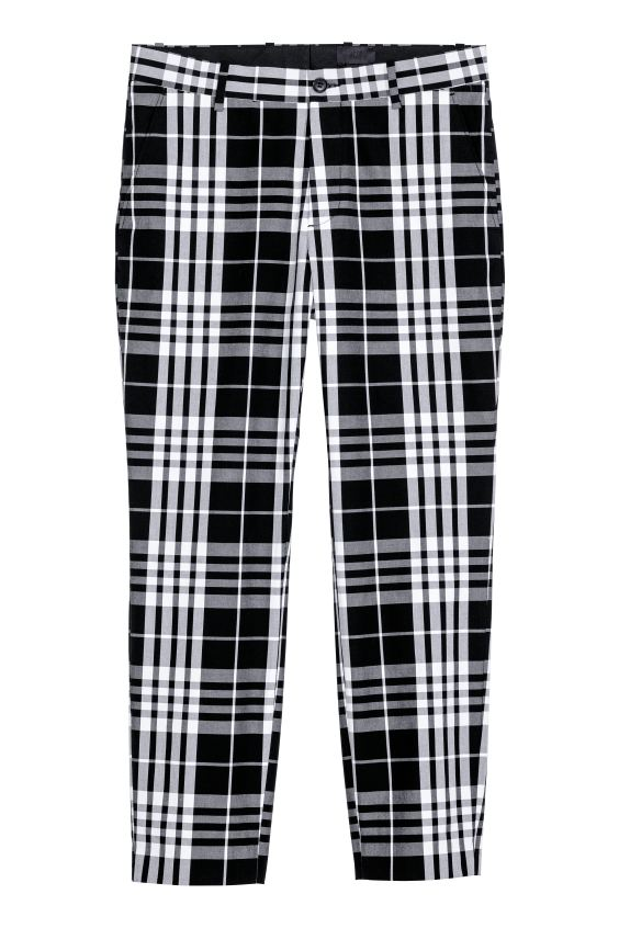 H&M plaid pants for men
