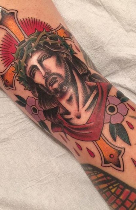 jesus cross tattoos for men