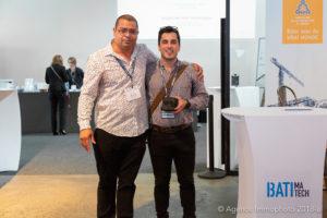 Francis Bissonnette, Batimatech et Sim5, William St-Pierre, CEO, Mechasys, immophoto - concours batimatech 2018 - 1201 boul st-laurent - mo