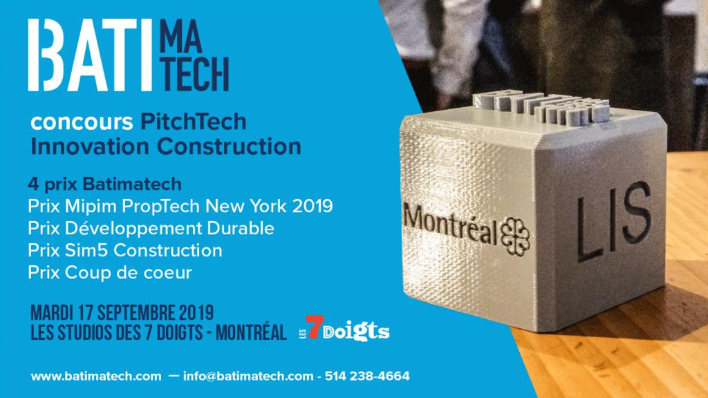 Concours PitechTech Innovation Batimatech - visuel 7 doigts - Trophée 3D