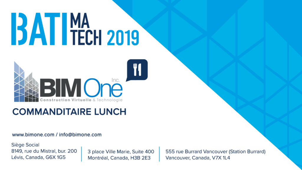 BIM One commanditaire lunch Batimatech