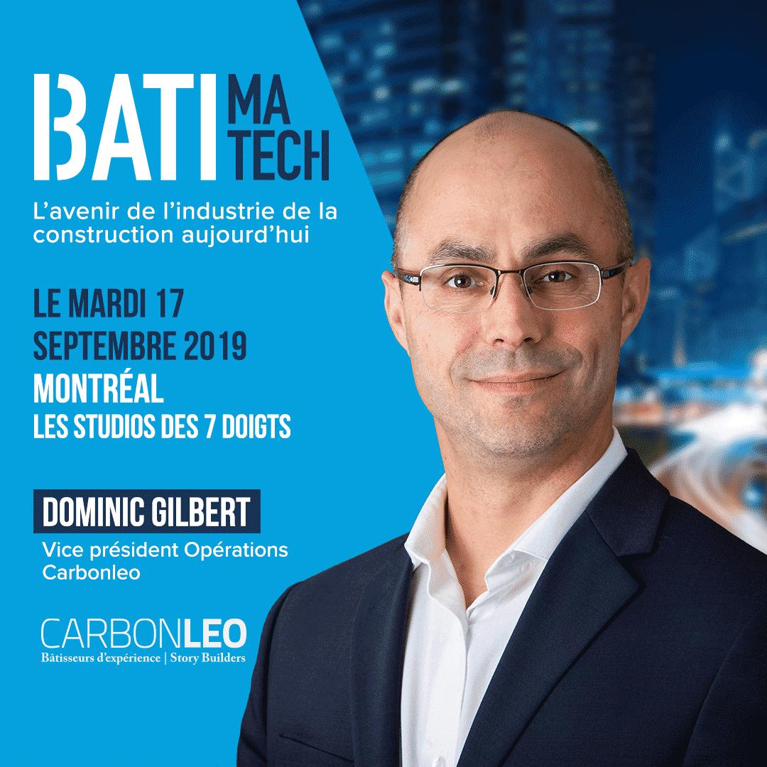 conferencier Batimatech - Dominic Gilbert