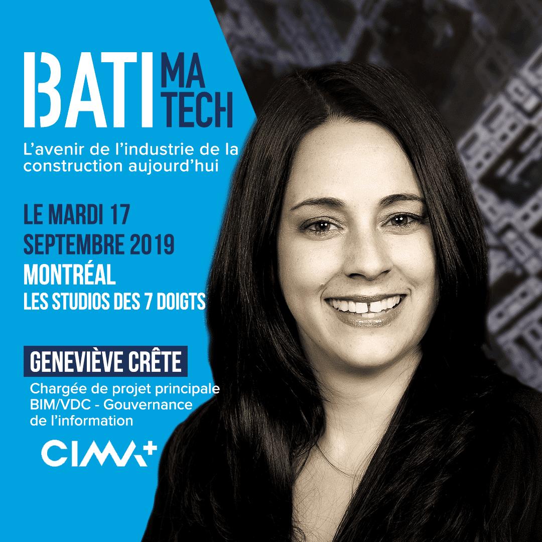 conferencier Batimatech - Genevieve Crete
